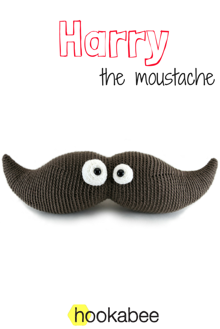 Harry the Moustache amigurumi crochet pattern by @hookabee (www.hookabee.com)…
