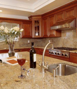 Colonial Cream Granite Kitchen