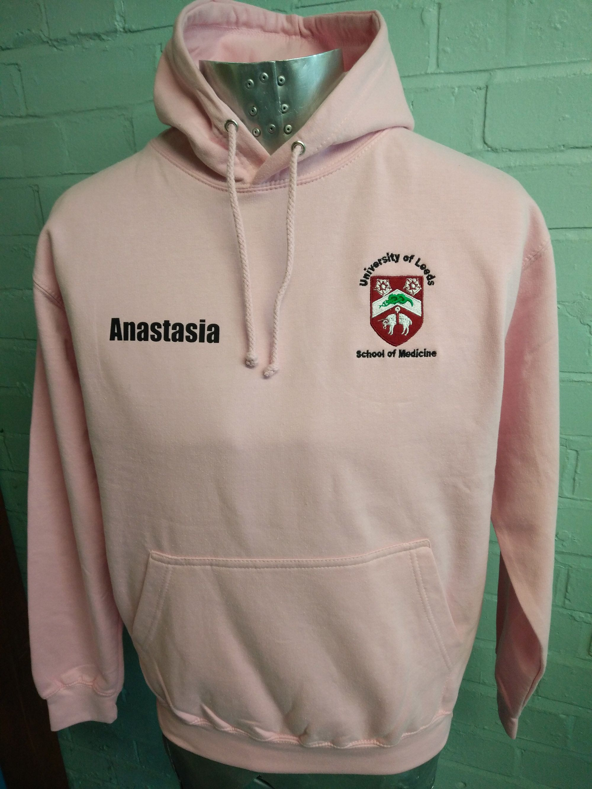 125a32eb005b6 Pale Pink Hoodies looking great for Leeds School of Medicine with ...