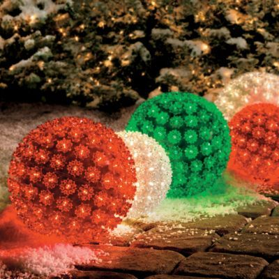 our battery operated starlight spheres are positively radiant - Starlight Sphere Outdoor Christmas Decoration