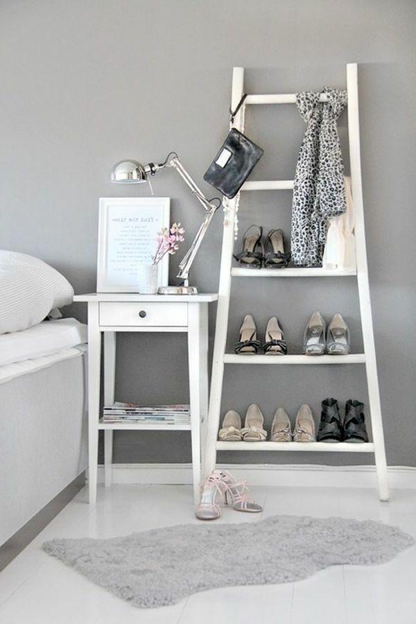 Schuhe Aufbewahren Tweiße Treppe Im Schlafzimmer - Selbermachen ... Zimmer Ideen Selber Machen