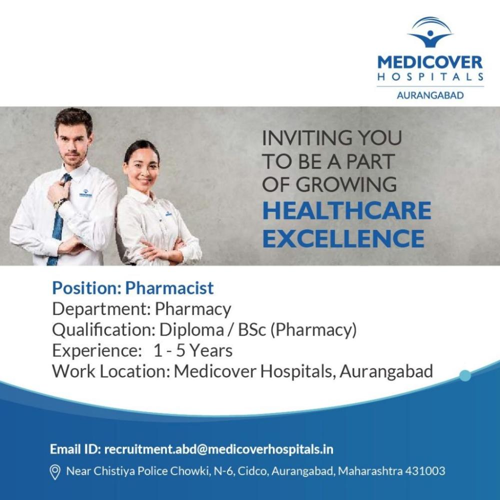 Pharmacist Job Openings India In 2021 Job Opening Job Pharmacist