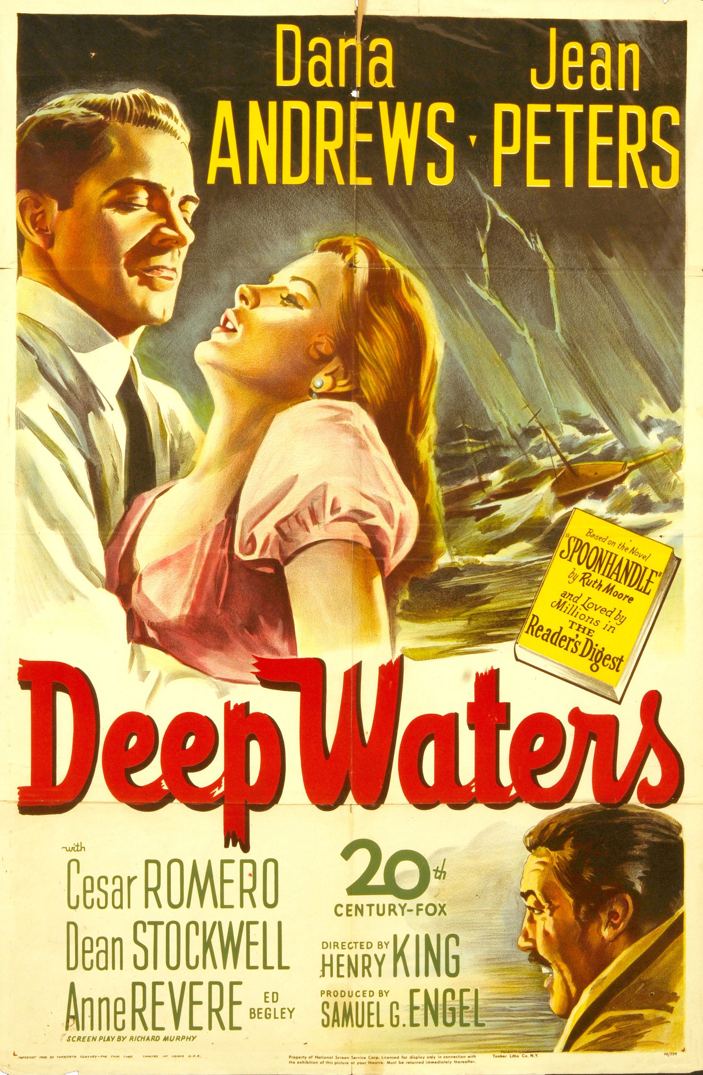Retro Movie Poster Art - Deep Waters , Henry King 1948 - http ...