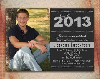 diy graduation invitations or announcements this is very simple, invitation samples