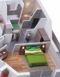 Plan 3d suite parentale d couvrez cette magnifique suite for Plan de suite parentale avec salle de bain dressing