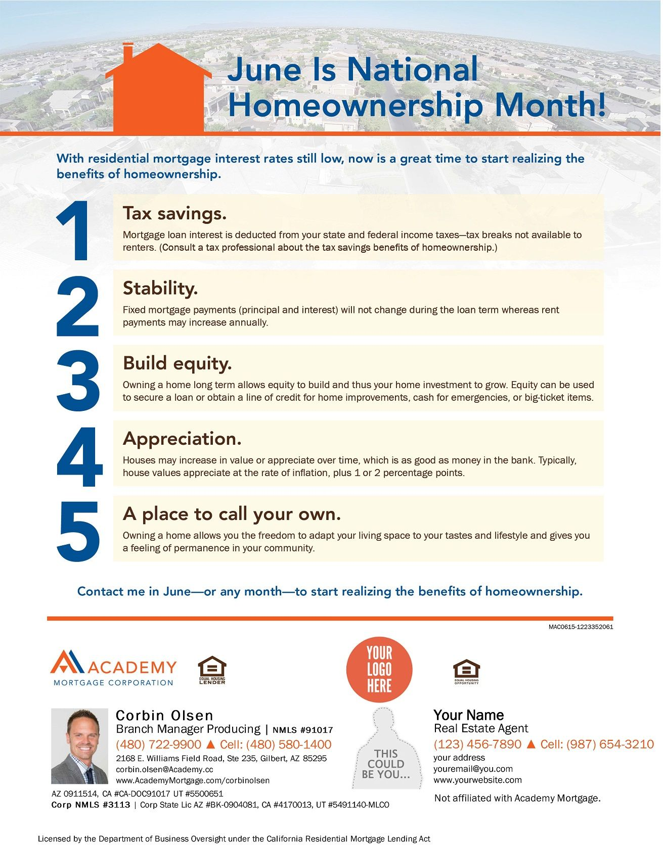 June is national homeowners month mortgage interest