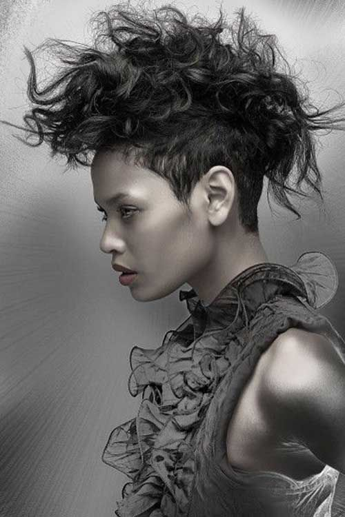25 Punk Hairstyles For Curly Hair Curly Hair Styles