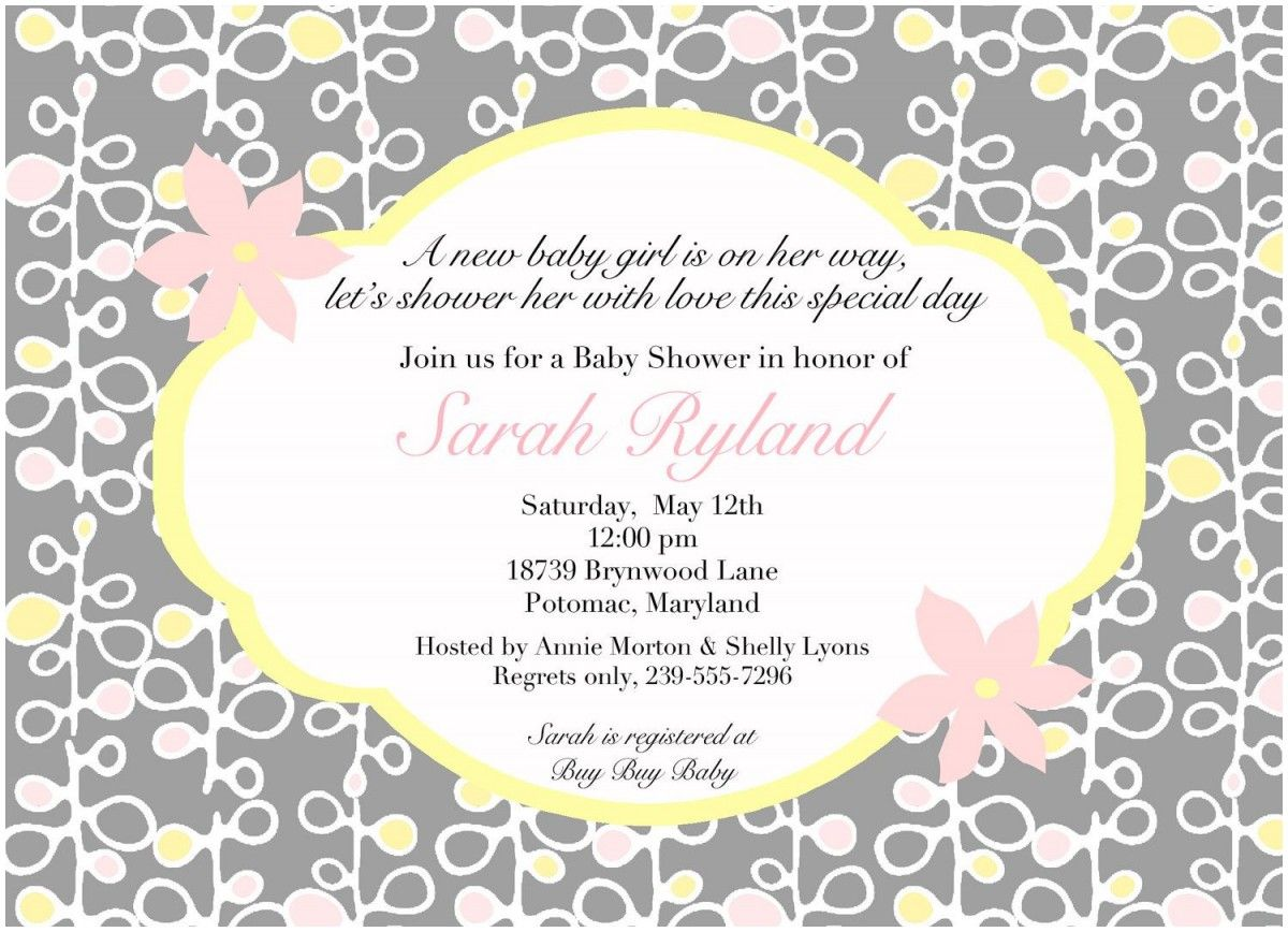 Elegant Baby Shower Poems Invitation Wording Ideas