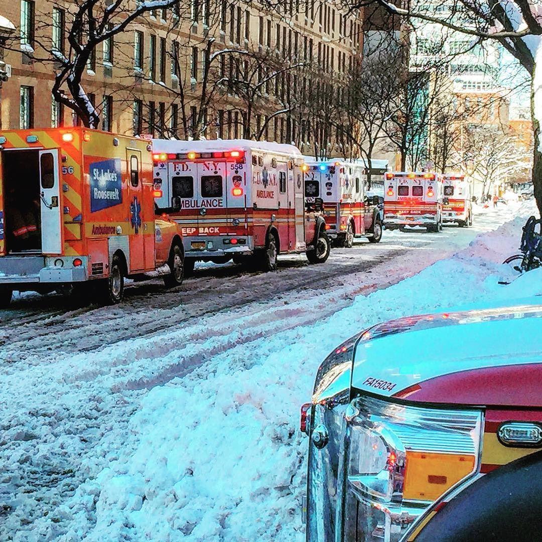 Fdny Ems And St  Lukes Roosevelt Hospital Ambulances