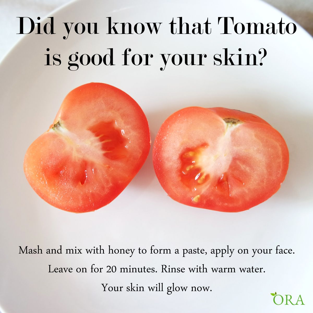 Is tomato good for your skin