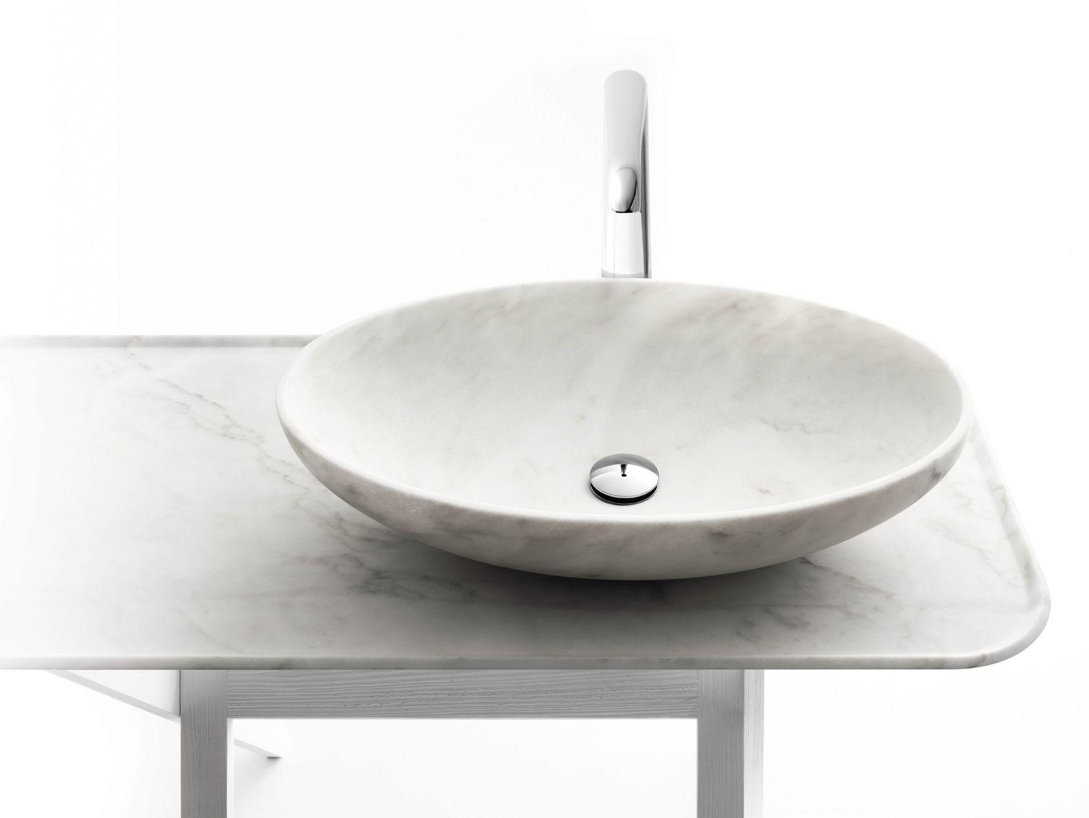Countertop marble washbasin BOWL N10 Nabhi Collection by Kreoo   design  Enzo Berti