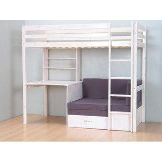 Thuka Hochbett Kiefer Massiv Bett Kinderbett Gästebett Schreibtisch