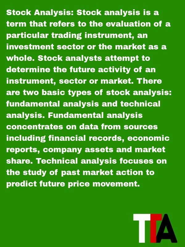 Definition of the day Stock Analysis  Stock analysis is a term - definition evaluation