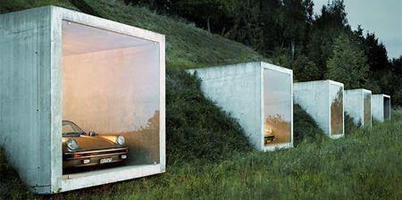 Modern parking garage designed by peter kunz was embedded for Architettura moderna case