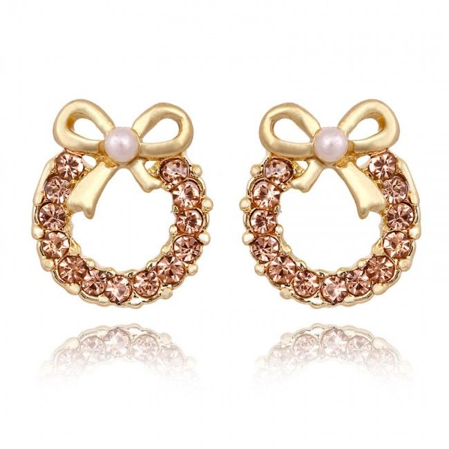 Fashion Pearl Bow Rhinestone Earrings&Stud for only $9.99 ,cheap Earrings Studs - Jewelry&Accessories online shopping,Fashion Pearl Bow Rhinestone Earrings&Stud