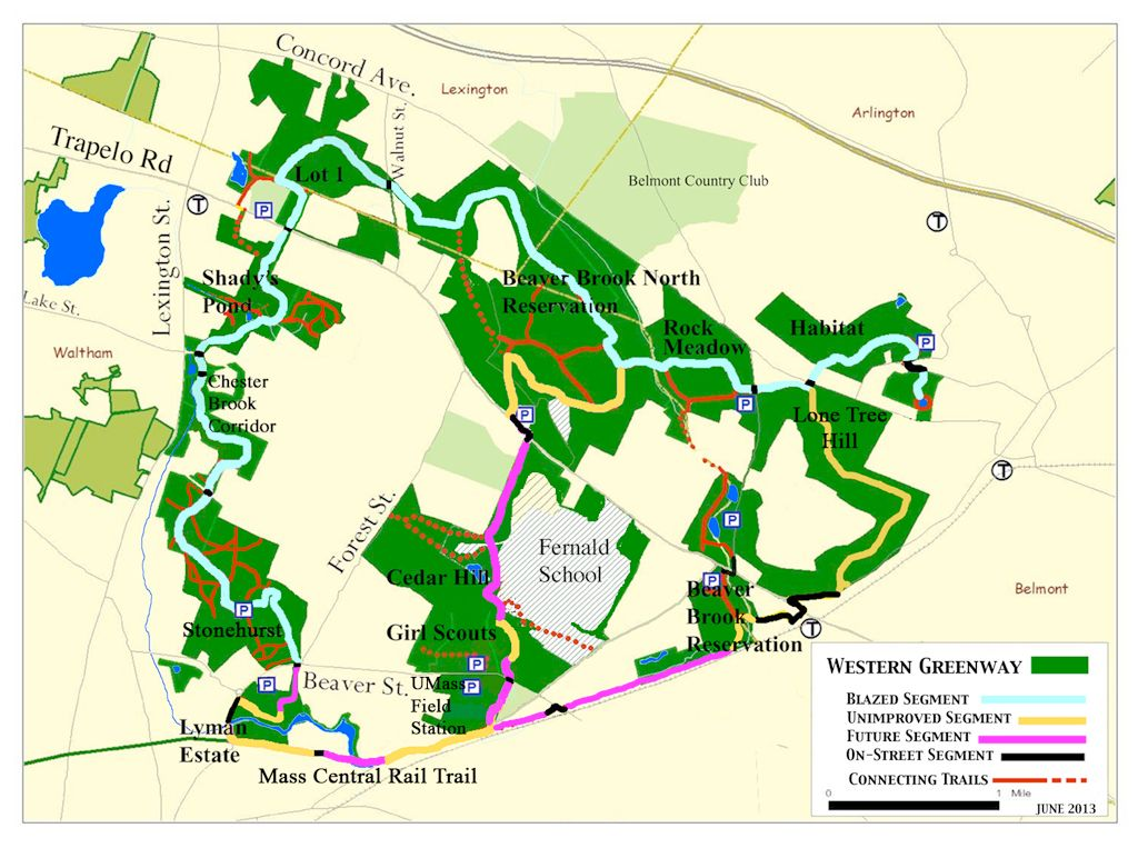 Western Greenway Progress Map 2013 09 24 Waltham Day Trips Vacation Places