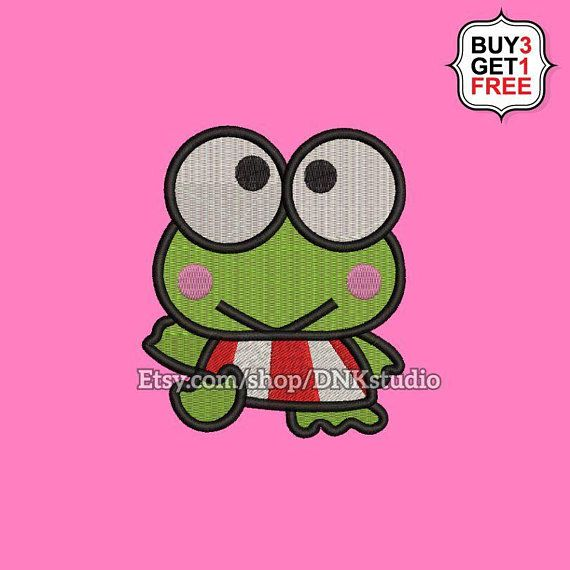 Keroppi Machine Embroidery Design - 6 Sizes - INSTANT DOWNLOAD