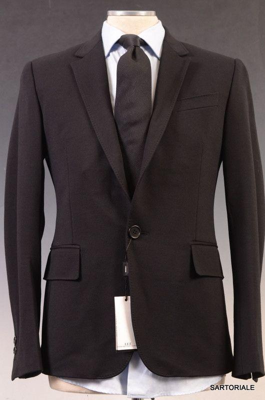 DIRK BIKKEMBERGS Sport Couture Black Wool Jacket 48 NEW US 38