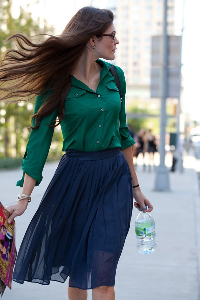 Image result for blue and green clothes combination