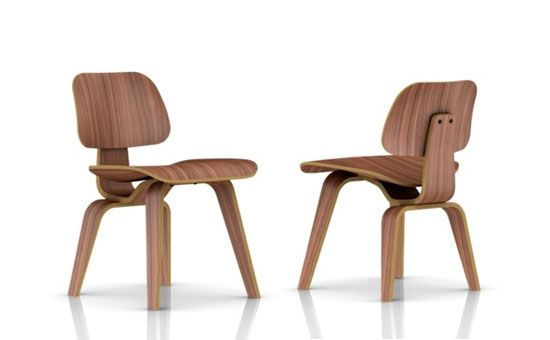Exceptional Eames Molded Plywood Dining Chair Wood