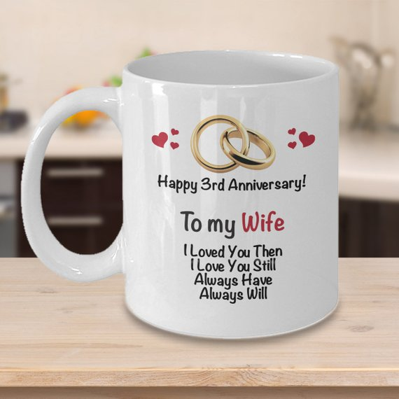 3rd wedding anniversary gifts for husband
