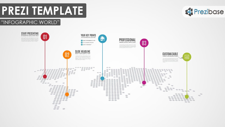 Infographic World Prezi Template Prezibase Prezi Templates World Map Coloring Page Infographic