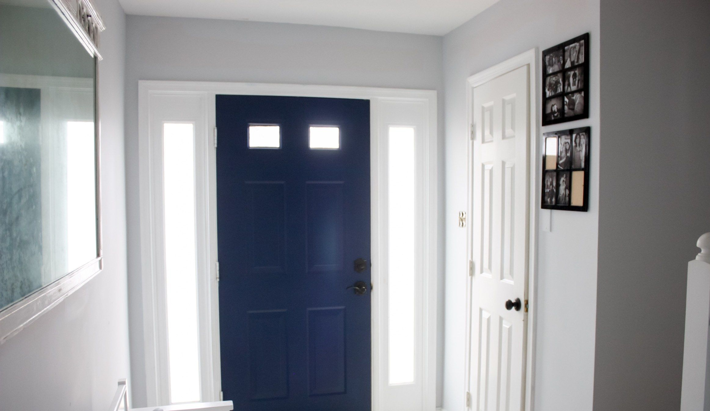 Door painted Behr Marquee pass Blue Paint colors