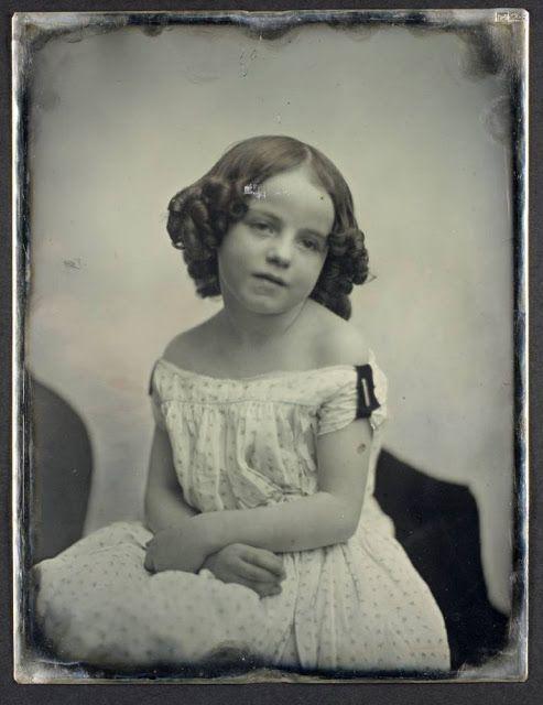 A little girl, circa 1850.