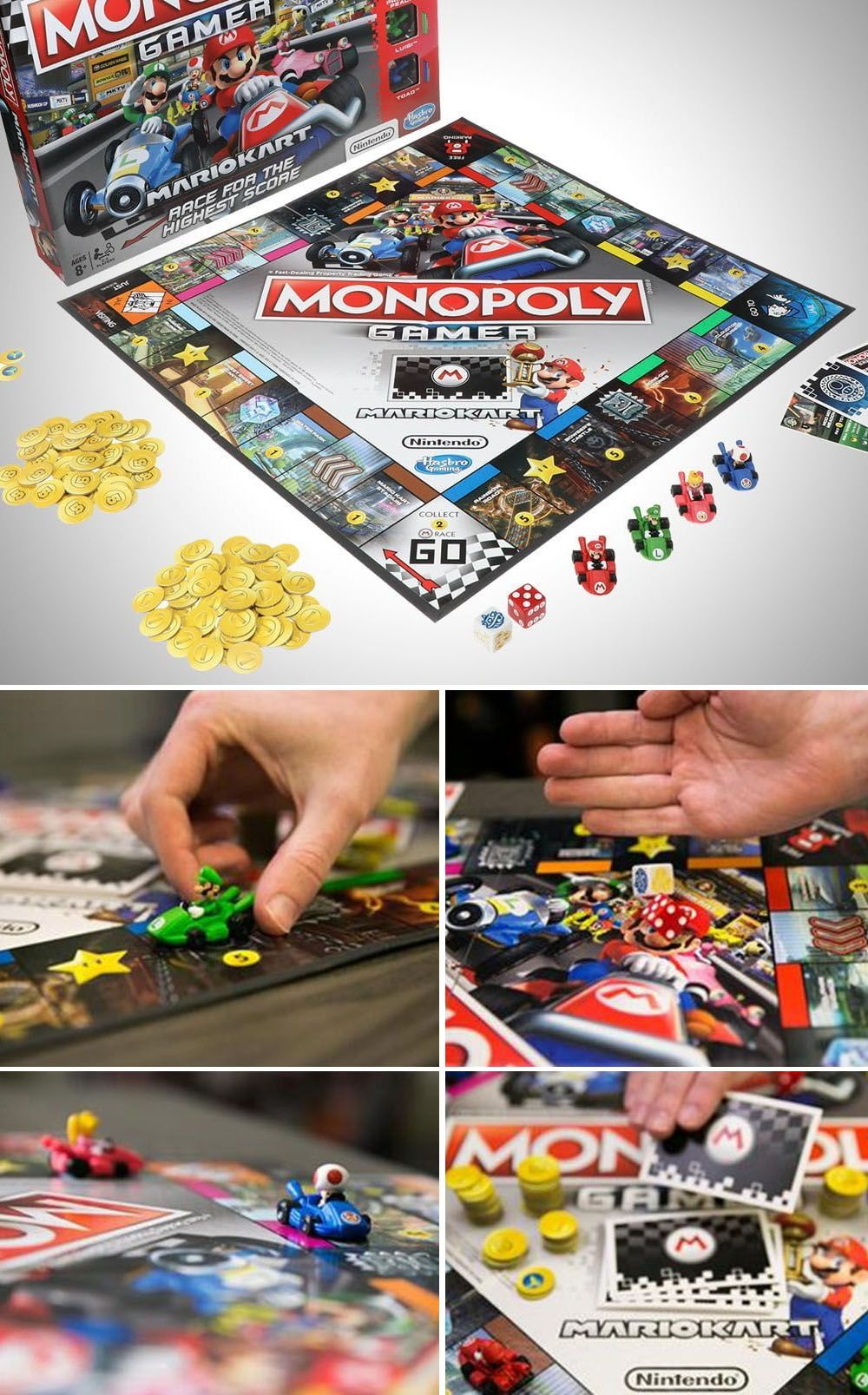 Mario Kart Monopoly Nerdy Things Mario Kart Games Mario