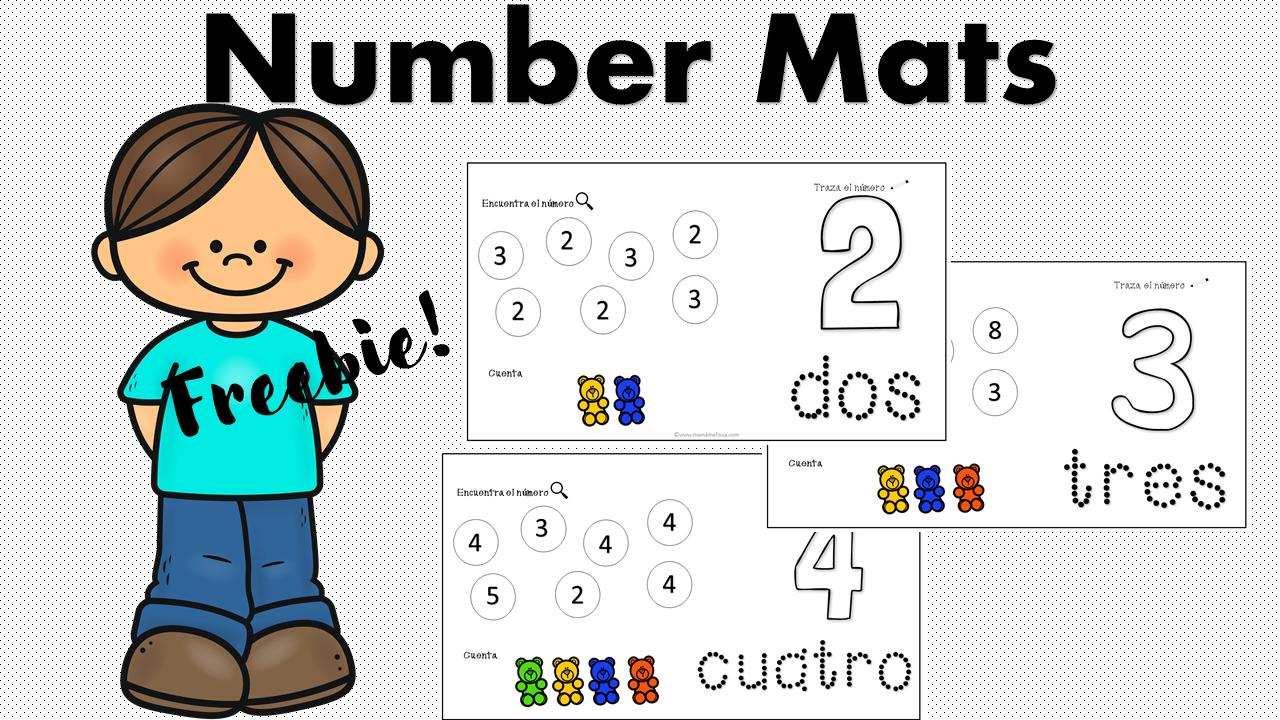 Number Mats En Espanol En 2020 Aprendiendo En Casa Actividades Educacion En El Hogar