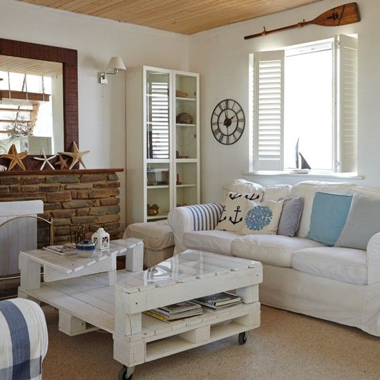 Coastal Living Room With Shutters | Coastal Living Room Design Ideas |  Decorating | Housetohome. Part 83
