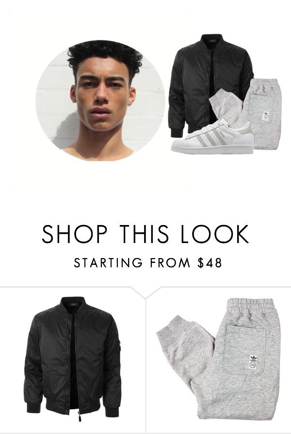 """""""."""" by readsalot ❤ liked on Polyvore featuring LE3NO, adidas Originals, men's fashion and menswear"""