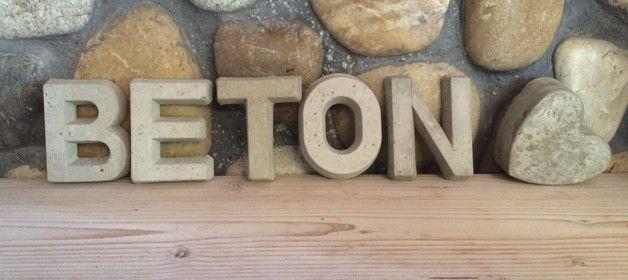 Buchstaben & Schriftzüge - Beton Buchstabe, Buchstaben aus Beton - ein Designerstück von beton-lovers bei DaWanda