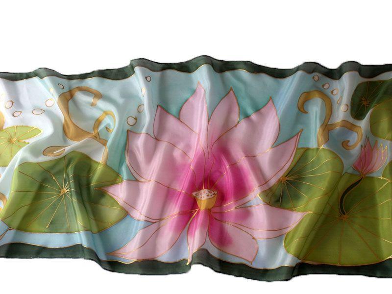 Lótuszvirág, a megnyugtató hangulat: http://silkyway.hu/lotuszvirag-selyem-salak-40-150cm.html