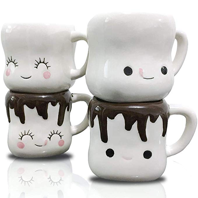 Cute Marshmallow Valentines Day Coffee Mugs