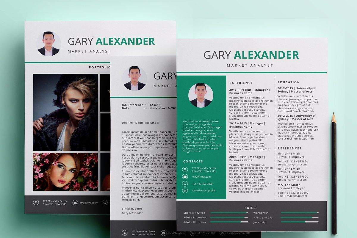 Powerpoint resume pack template in 2020 powerpoint