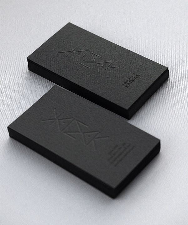 Black Embossed Business Card