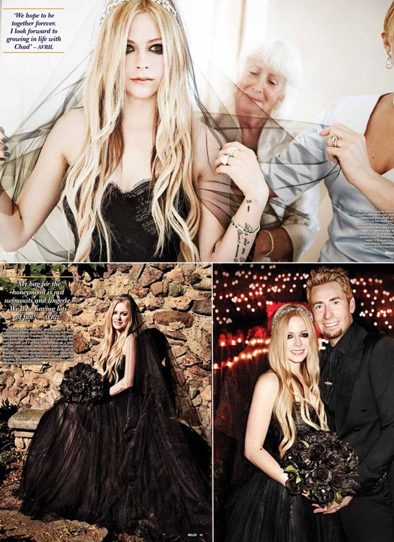 Avril Lavigne Matrimonio In Nero : Avril lavigne wedding hollywood wedding album in