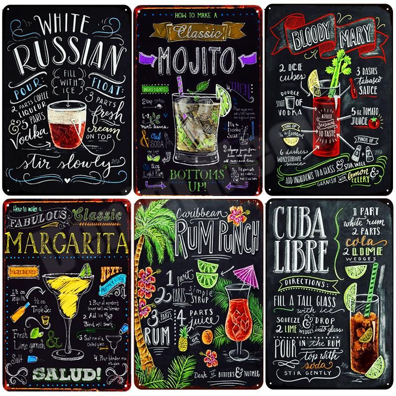Tin Sign Party Retro Bloody Mary Bar Pub Restaurant