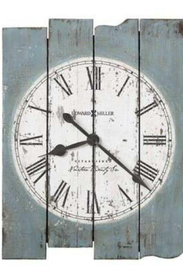 Howard Miller Mack Road Wall Clock In Antique Blue Ad Oversized Wall Clock Blue Wall Clocks Wall Clock Painting