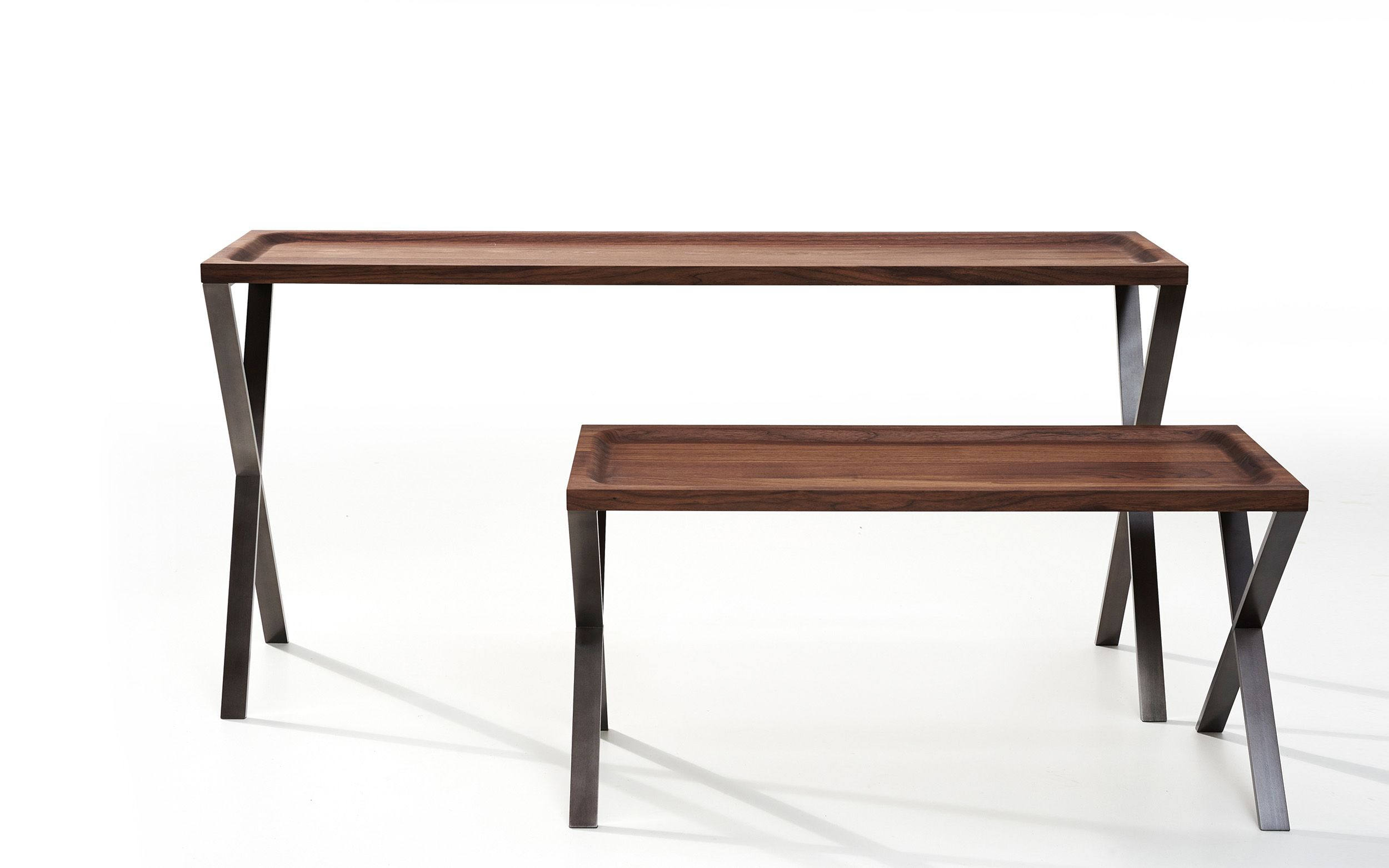 Presented In Walnut With An Anthracite Lacquered Steel Frame Other