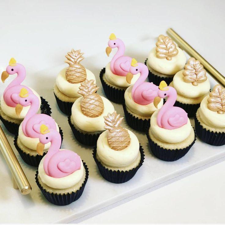 Flamingo Cupcakes - Patisserie Torten & Cremes - ...   - Torten Rezepte -