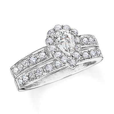 Pear Shaped Diamond Bridal Set