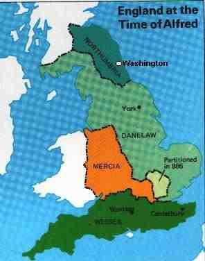 Map Of England King Alfred.Look How Big Northumbria Was In The Time Of King Alfred History