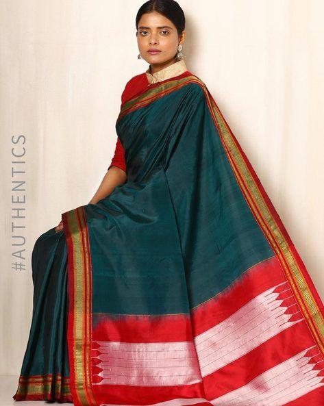 d133b608ce9533 Buy Green Shri Chamundeshwari Handwoven Chikki Paras Ilkal Pure Silk Saree