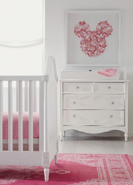 Baby Girl Nursery Ideas Efistu Com, Disney Princess Crib Furniture