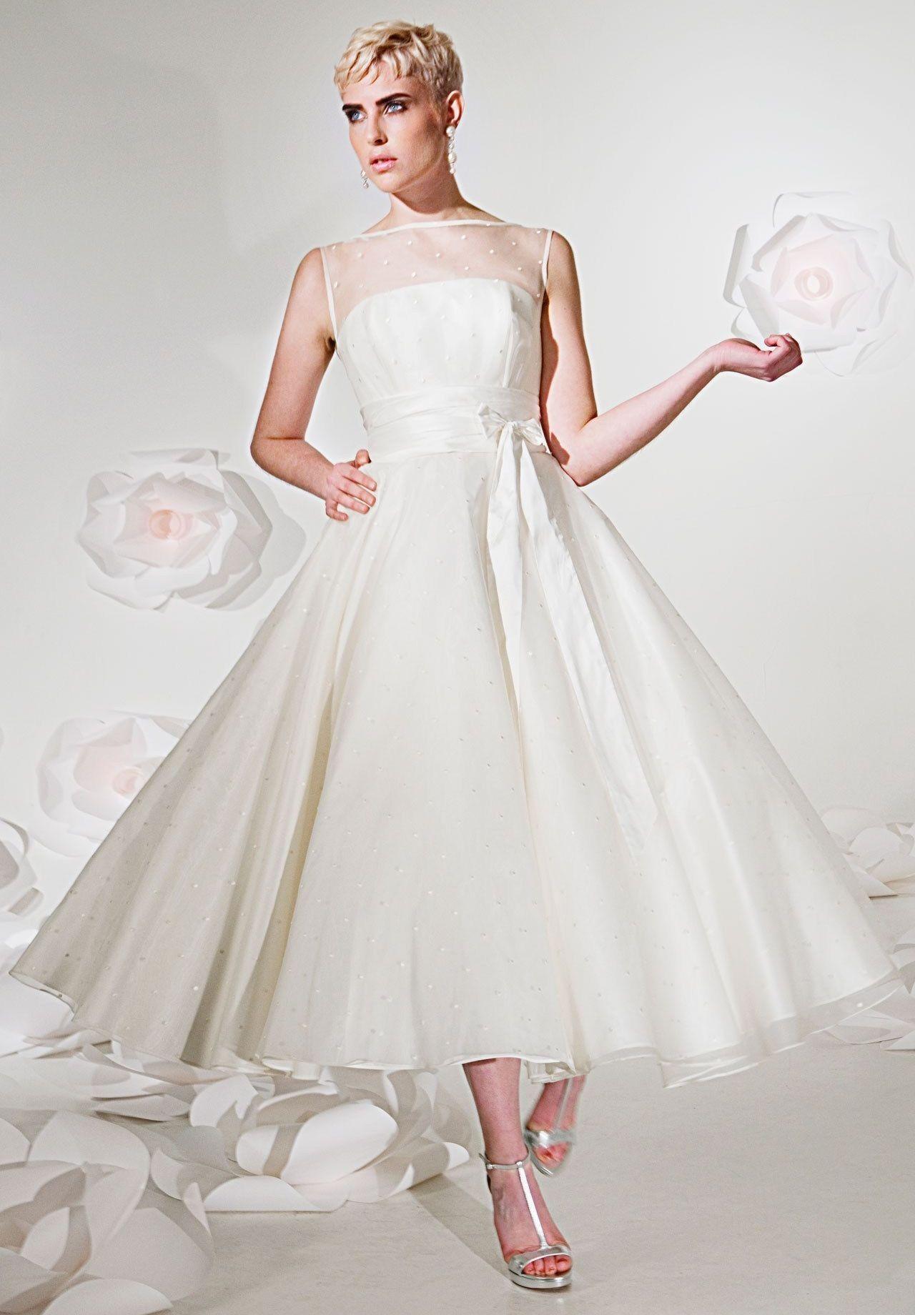 tea+length+wedding+dresses+for+older+brides Gown Tea