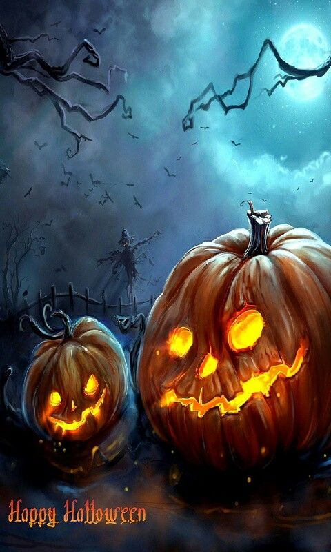 Pin By Helena Raven On Halloween Spooky Fun Art Halloween Painting Halloween Prints Halloween Backgrounds