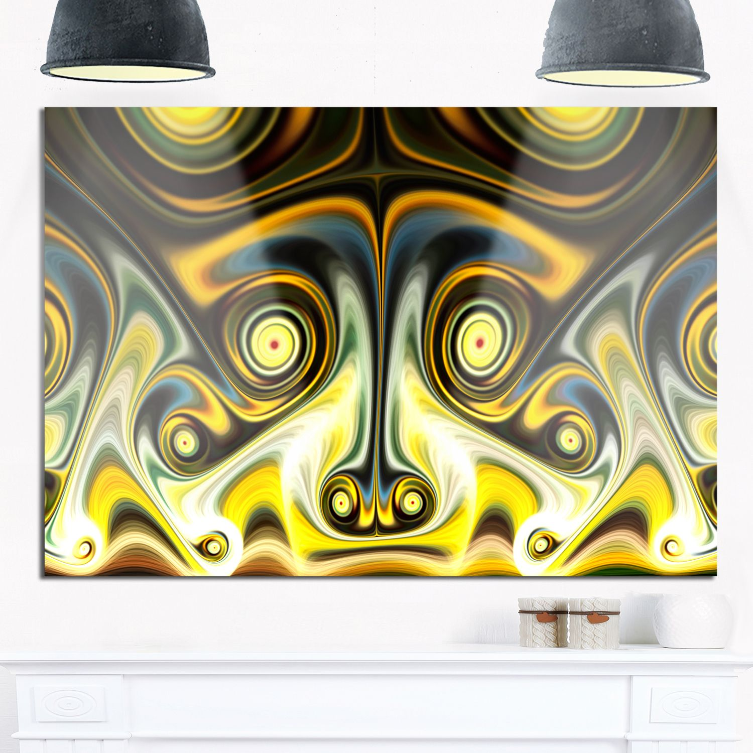 Unique Light Fractal Design Pattern - Oversized Abstract Glossy ...