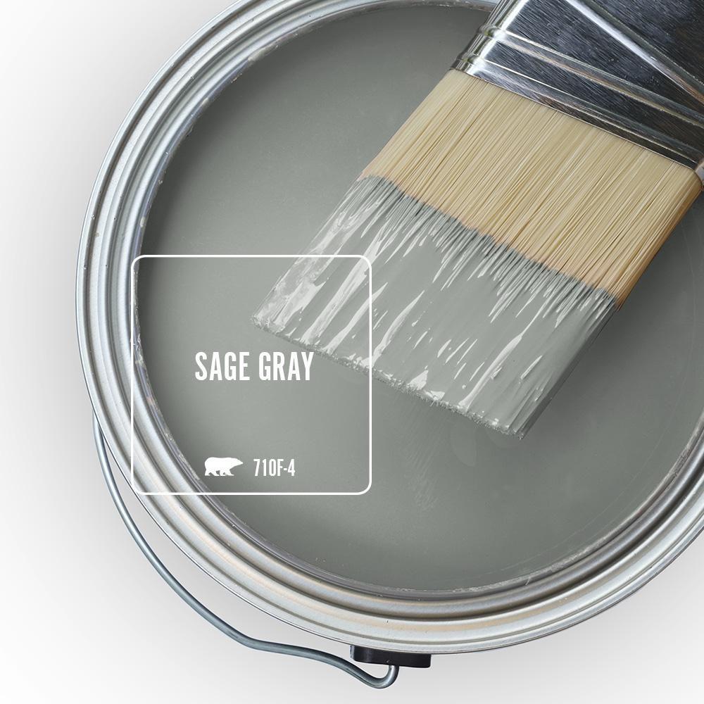Behr premium plus 1 gal 710f4 sage gray eggshell enamel